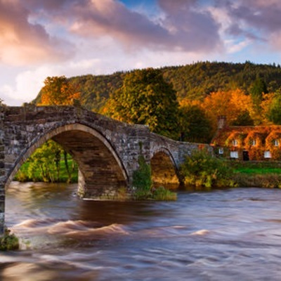 Great Britain Wales Bridge River