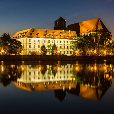 Pologne Wroclaw Nuit